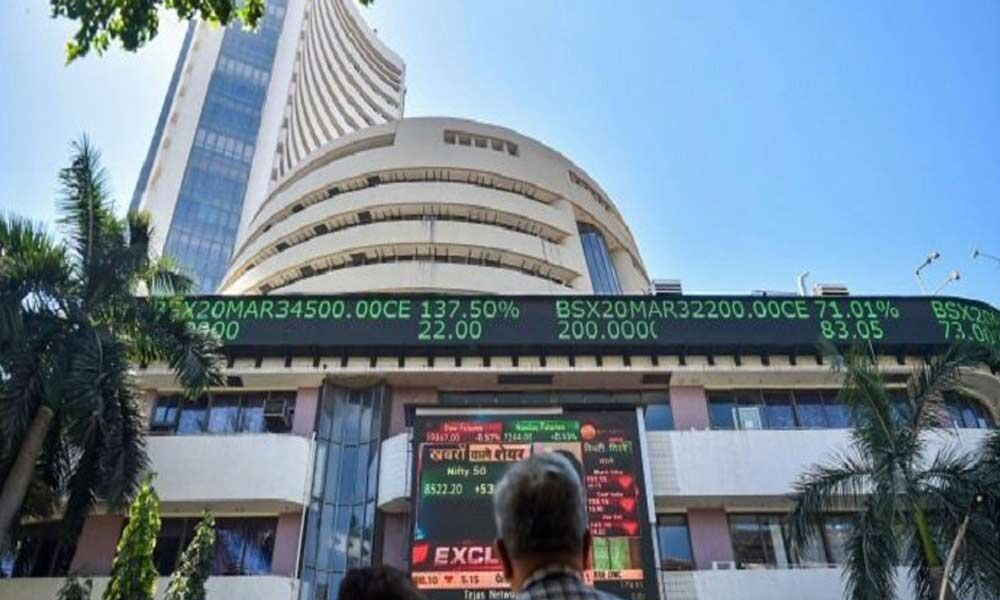 Domestic equity benchmarks end with strong gains; Sensex rises 9.4 pct & Nifty closes at 14,819